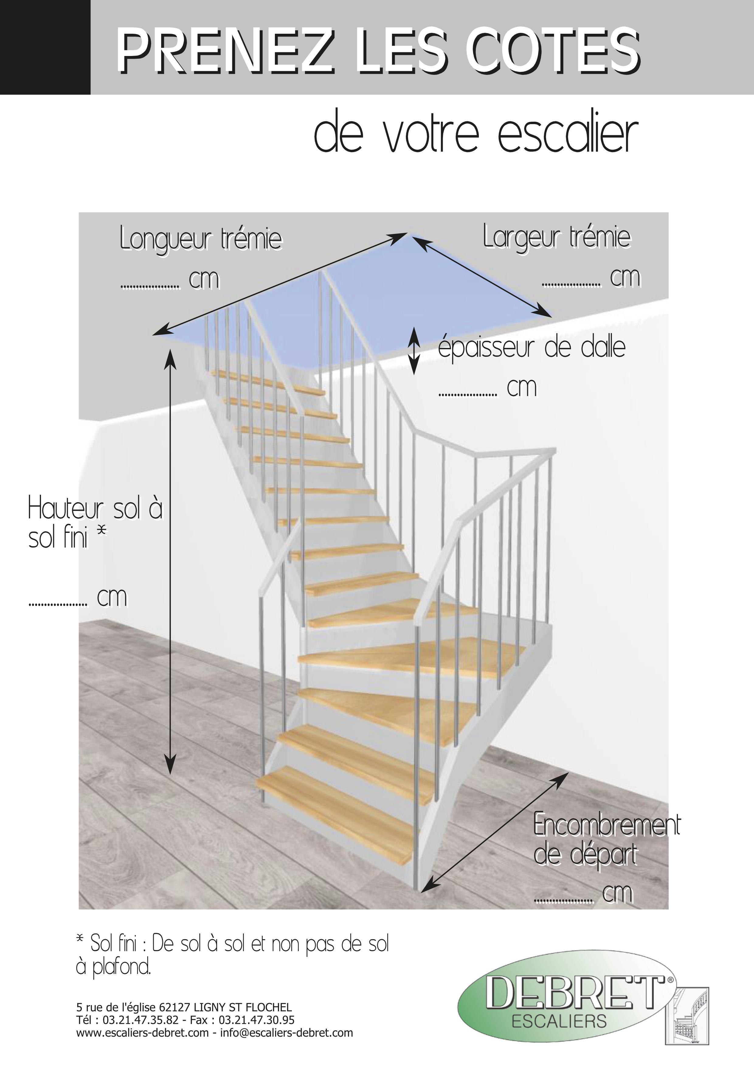 Largeur D Une Marche D Escalier comment prendre les cotes d'un escalier ? – fabricant d