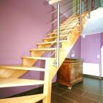 Escalier GC77 en bois et inox