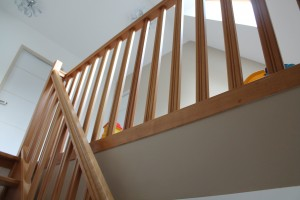 Garde-corps d'un escalier standard bois