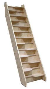 Un escalier à pas japonais en sapin